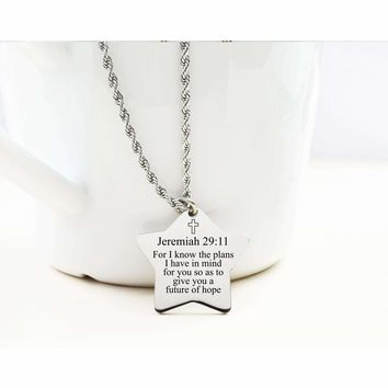 Star Tag Necklace - JEREMIAH 29:11