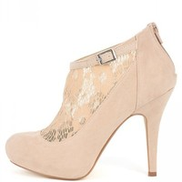 Bamboo Rhythm-96 Suede Lace Booties | MakeMeChic.com