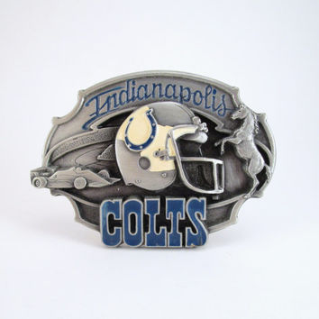 1987 Indianapolis Colts Belt Buckle, Vintage Football Buckle, NFL Licensed Buckle, Limited Edition, Sports Belt Buckle, Father's Day Gift