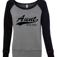 Aunt Since Personalized Aunt Pull Over Sweatshirt