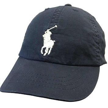 Polo Ralph Lauren Classic Big Pony Chino #3 Youth Adjustable Slouch Hat Cap 4-7