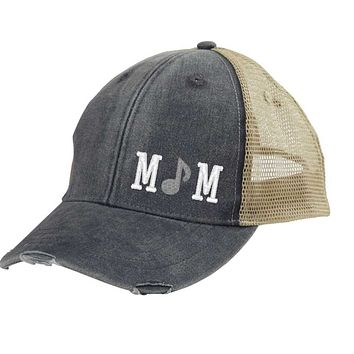 Music or Band Mom Distressed Snapback - off-center