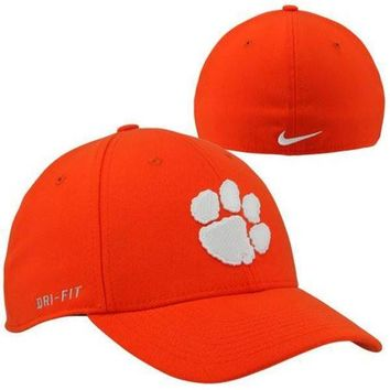 Nike Clemson Tigers Dri-FIT Swoosh Flex Hat - Orange