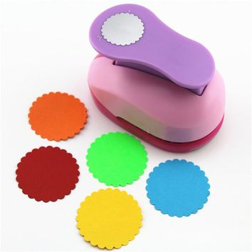 20 design 5cm Hole Punch Cortador De Papel Circle Shaped Craft Punchers Diy Scrapbooking Punches Furador Perfurador Paper Cutter