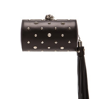 Alexander McQueen | North South Skull Studded Nappa Clutch in Black www.fwrd.com