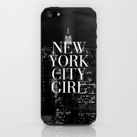 New York City Girl Black & White iPhone Case iPhone & iPod Skin by RexLambo | Society6