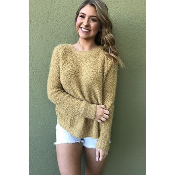 Lets Go Sweater - Mustard