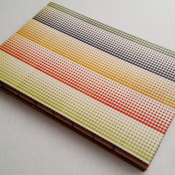 Receding colorful dot journal with 80 multi-colored pages 6X9