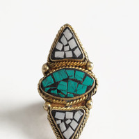 Tribal Guide Mosaic Ring - $20.00 : ThreadSence, Women's Indie & Bohemian Clothing, Dresses, & Accessories