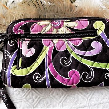 Vera Bradley Retired Purple Punch Clutch Large Zip Around Wallet