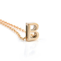 26 English Letter Personalized Charm Pendant Necklace Gold Plate Tiny Initial Delicate Minimalist Necklace Free Shipping