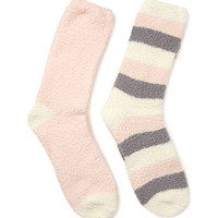 Striped Fuzzy Sock Set