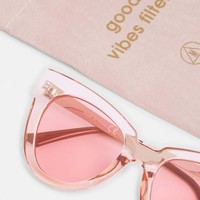 Missguided - Pink Clear Large Frame Sunglasses