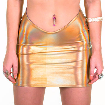 Gold Hologram Mermaid Skirt