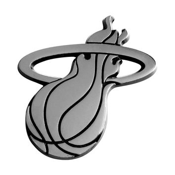 Miami Heat NBA Chrome Car Emblem (2.3in x 3.7in)
