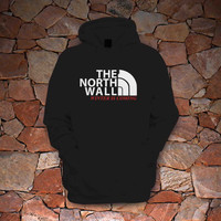 THE NORTH WALL - funny hip retro cool tv show winter is coming swag party game of thrones college hoodie hoodie