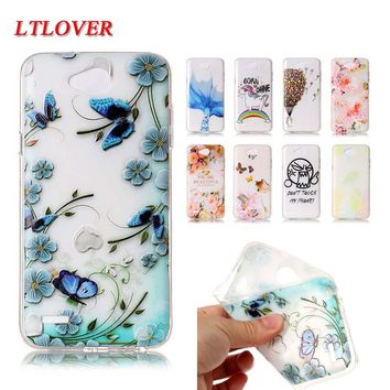 For LG X Power 2 Mobile Phone Shell Luxury Cartoon 3D Relief Painting soft TPU Phone cases For LG X Power 2 Cases Back Cover
