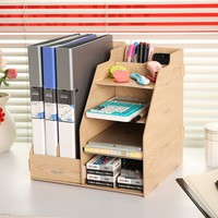 combination multifunctional file box wool file column desktop storage box data rack stationery office desk organizer