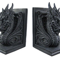 Gothic Dragon Bookends Midieval Castle Book Ends Evil Medieval