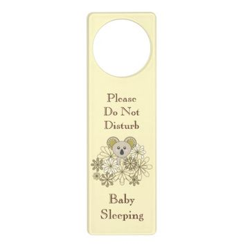 Cute Animal Baby's Room Personalized Door Knob Hangers for Baby Boy and Girl: Neutral Baby Shower Gift Idea: Baby Koala