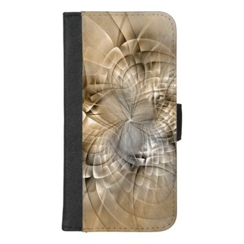 Earth Tones Abstract Modern Fractal Art Texture iPhone 8/7 Plus Wallet Case