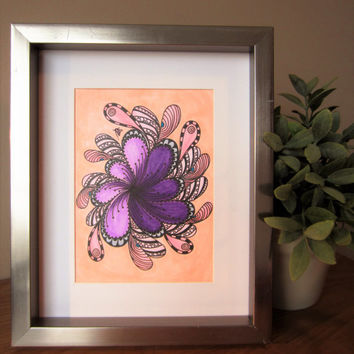 ON SALE Floral Art, Flower illustration, small art pieces, wall art