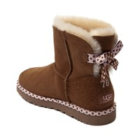 Womens UGG® Bailey Bow Mini Boot, Chestnut, at Journeys Shoes