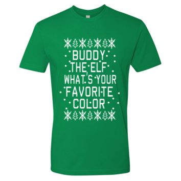 Unisex Buddy The Elf What's Your Favorite Color Christmas Shirt