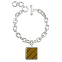 Modern Abstract Stripes in Black, Gold, and Olive Bracelets