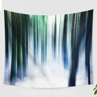 Colorful Forest Tapestry | Magical Nature Wall Tapestry | Boho Wall Decor | Artwork | Wanderlust | Surreal | Original | Dorm Room | Gifts