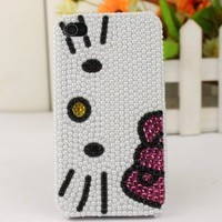 Amazon.com: Slim Crystal iPhone Case for AT&T Verizon Apple iPhone 4/4S Pearl Hello Kitty Face: Cell Phones & Accessories