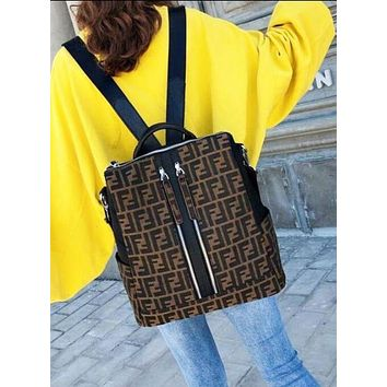 FENDI 2018 new fashion trend classic more F letter printing men and women backpack bag shoulder bag