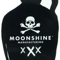 Moonshine Jug Skull & Crossbones Sticker Single