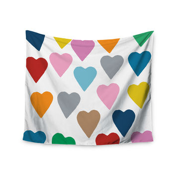 "Project M ""Colorful Hearts"" Wall Tapestry"