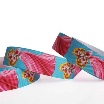 "Disney Princess Party Dress Grosgrain Ribbon/1""(25 mm) width /DIY Hair Bow / Head band / Craft Supplies"