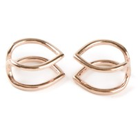 Coops London  small pointed double hoop squeeze on earrings