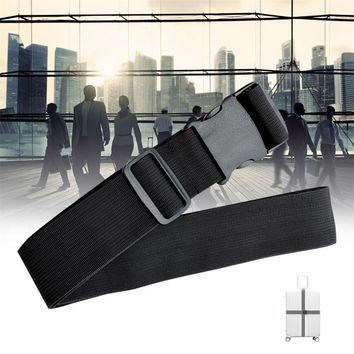 Black Suitcase Buckle Strap Travel Baggage Security Tie Down Utility Belt 1pc