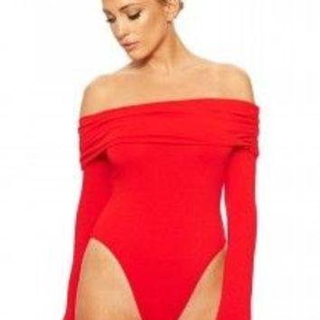 The NW Off My Shoulders Bodysuit - Bodysuits - Womens