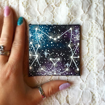 Tiny Hand Painted Cat Constellation Magnet
