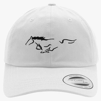 Mustang Horse Embroidered Cotton Twill Hat