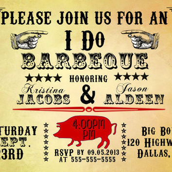 Printable Party Invitation-Barbeque-I DO BBQ-DIY -Rustic-Wedding-Couples Shower-Rehearsal Dinner