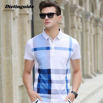 Men Polo Shirt Slim Fit Short Sleeve Men Clothing Brand Business & Casual Summer Mens Polo Shirts MST001