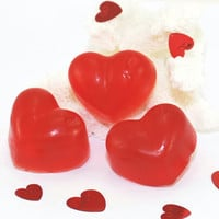 Red Heart Soaps Valentine's Day Homemade Soap Bridal Shower Wedding Shower Favors Baby Shower Party Favors Set of 3 Soaps