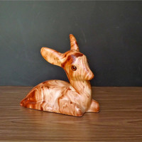 Vintage Pine Scented Deer Pine Scented Fawn Figurine