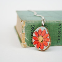 flower necklace watercolor by starlightwoods on Etsy