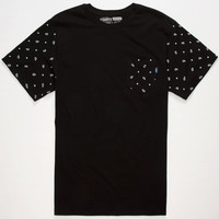 Vans Paisley Mens Pocket Tee Black  In Sizes
