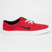 Nike Sb Portmore Canvas Mens Shoes Red  In Sizes