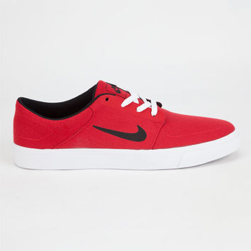82da2fead674 Nike Sb Portmore Canvas Mens Shoes Red In from Tilly s