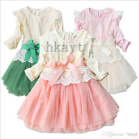 Children's Dresses/Baby Dresses/2014 Girls princess lace long-sleeved dress/Children's clothing