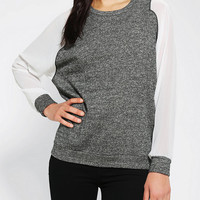 Urban Outfitters - Sparkle & Fade Chiffon-Sleeve Pullover Sweatshirt
